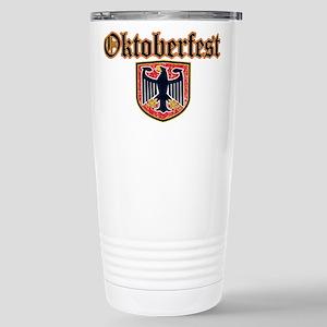 Oktoberfest Shield Stainless Steel Travel Mug