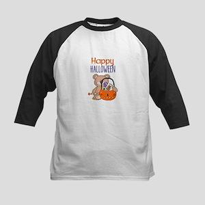 Happy Halloween Little Boy Bear Baseball Jersey