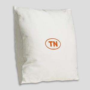 Tennessee TN Euro Oval Burlap Throw Pillow