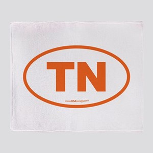 Tennessee TN Euro Oval Throw Blanket