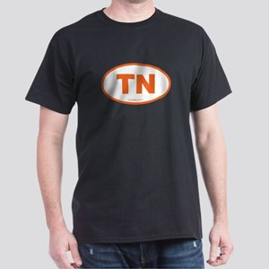 Tennessee TN Euro Oval Dark T-Shirt