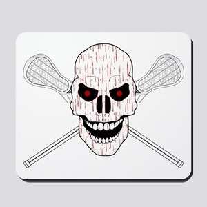 Bloody Lacrosse Skull Mousepad