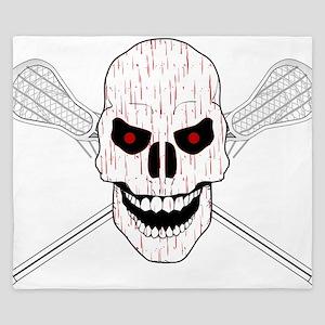 Bloody Lacrosse Skull King Duvet