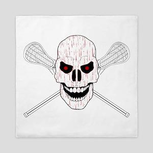 Bloody Lacrosse Skull Queen Duvet
