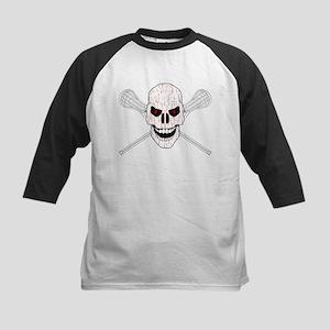 Bloody Lacrosse Skull Baseball Jersey
