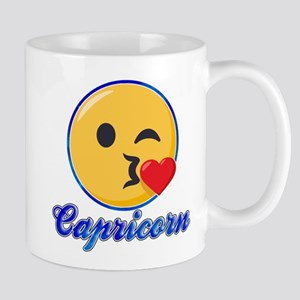 Emoji Capricorn Horoscope 11 oz Ceramic Mug