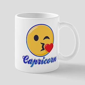 Emoji Capricorn Horoscope 11 oz Ceramic Mug