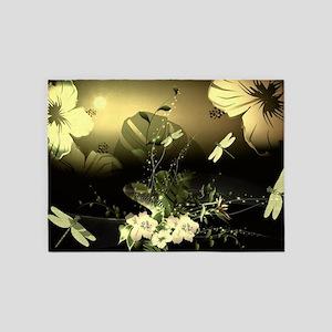 Wonderful flowers 5'x7'Area Rug