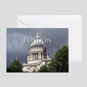 St Paul's Cathedral, London (caption Greeting Card