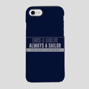 U.S. Navy Once A Sailor iPhone 8/7 Tough Case