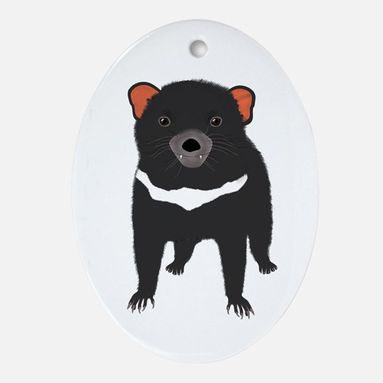Tasmanian Devil Oval Ornament