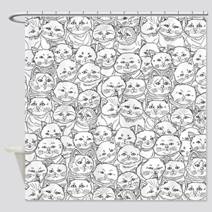 Cats, Shower Curtain