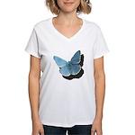 Blue Moth Women's V-Neck T-Shirt