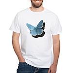 Blue Moth White T-Shirt