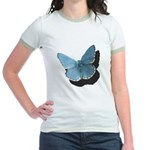 Blue Moth Jr. Ringer T-Shirt