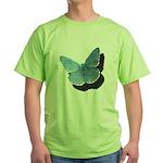Blue Moth Green T-Shirt
