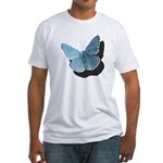 Blue Moth Fitted T-Shirt