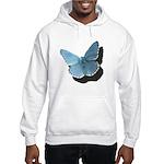 Blue Moth Hooded Sweatshirt