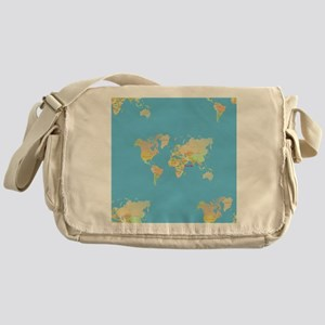 world map Messenger Bag