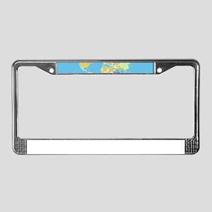 world map License Plate Frame