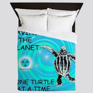 One Turtle at a Time Queen Duvet