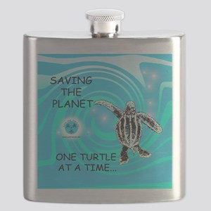 One Turtle at a Time Flask