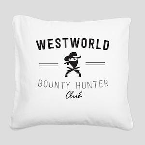 Westworld Bounty Hunter Club Square Canvas Pillow