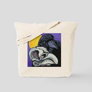 Raven Skull Goth Halloween Art Tote Bag