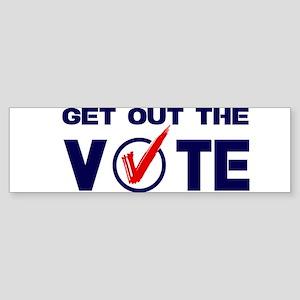 GET OUT THE VOTE Bumper Sticker