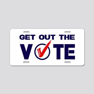 GET OUT THE VOTE Aluminum License Plate