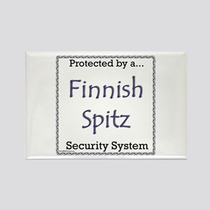 Finnish Spitz Security Rectangle Magnet