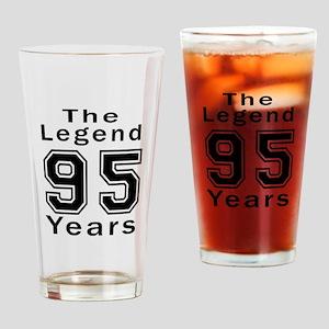 95 Legend Birthday Designs Drinking Glass