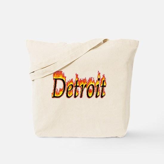 Detroit Flame Tote Bag