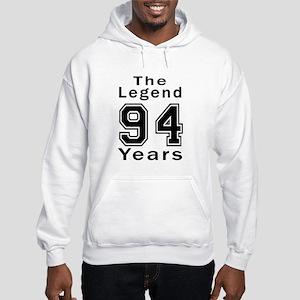 94 Legend Birthday Designs Hooded Sweatshirt