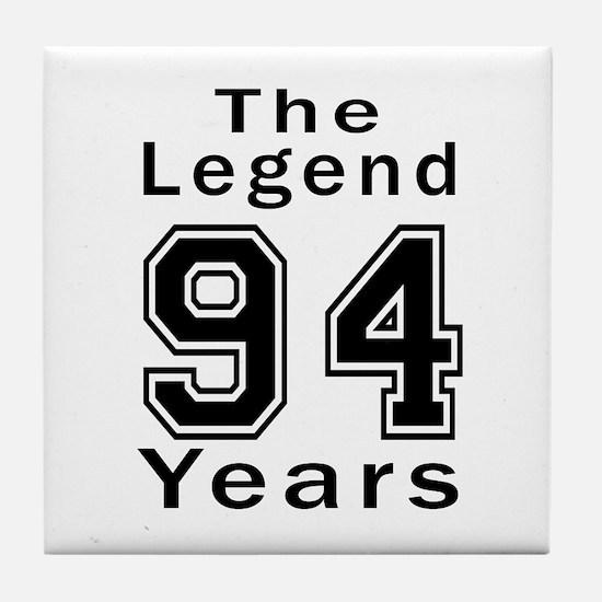 94 Legend Birthday Designs Tile Coaster