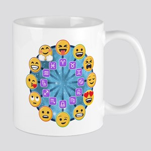 Emoji Circle Horoscopes 11 oz Ceramic Mug