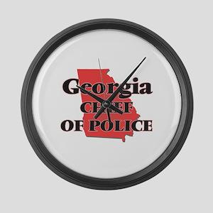Georgia Chief Of Police Large Wall Clock