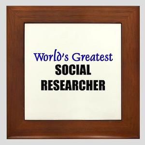 Worlds Greatest SOCIAL RESEARCHER Framed Tile