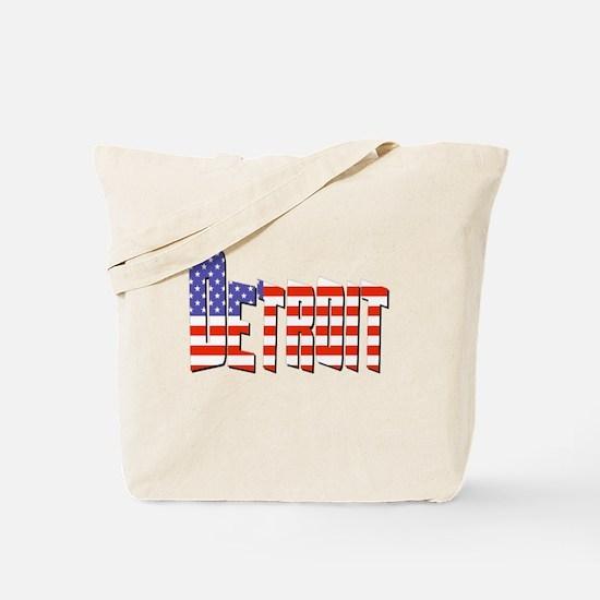 Patriotic Detroit Tote Bag