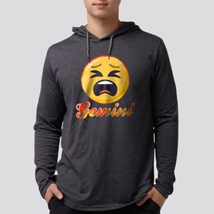 Emoji Gemini Horoscope Mens Hooded Shirt