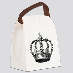 King's Crown Black White Canvas Lunch Bag