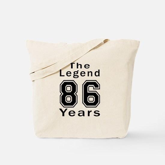 86 Legend Birthday Designs Tote Bag