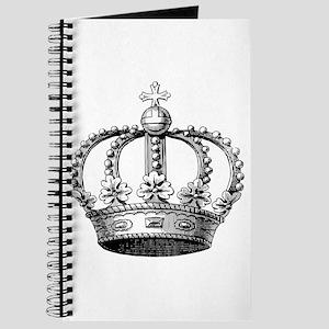 King's Crown Black White Journal