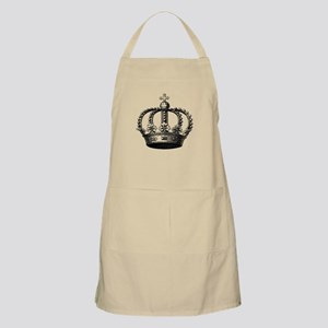 King's Crown Black White Apron