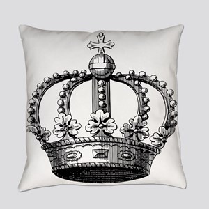 King's Crown Black White Everyday Pillow