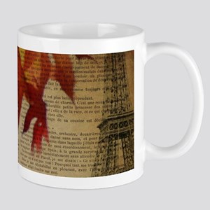 vintage paris landscape fall leaves Mugs