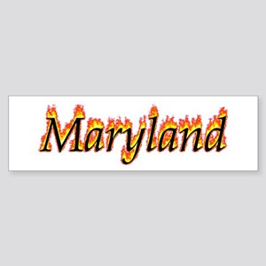 Maryland Flame Bumper Sticker
