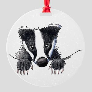 Pocket Badger Ornament