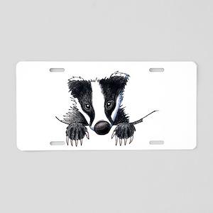 Pocket Badger Aluminum License Plate
