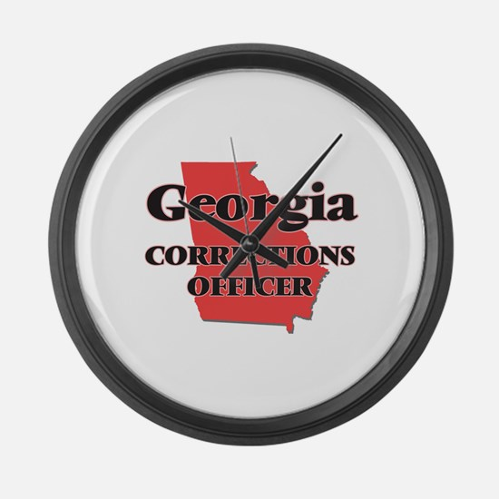 Georgia Corrections Officer Large Wall Clock